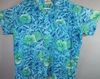 SALE***Hawaiian Shirt // MONA LOA Silky Rayon Shirt