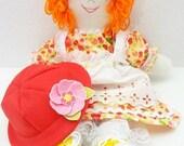 cloth doll handmade rag doll fabric doll child friendly waldorf traditional rag doll stuffed toy handmade girl doll  NF245