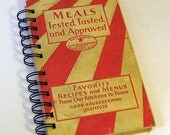 "1933 VINTAGE COOK BOOK Handmade Journal Vintage Upcycled Book ""Good Housekeeping's Book of Meals"""