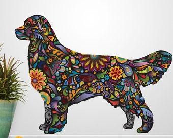 Golden Retriever Dog Decal Wall Sticker
