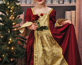 Belle's Christmas Dress - Sizes 2T, 3T, 4T, 5, 6, 7, 8 and 10