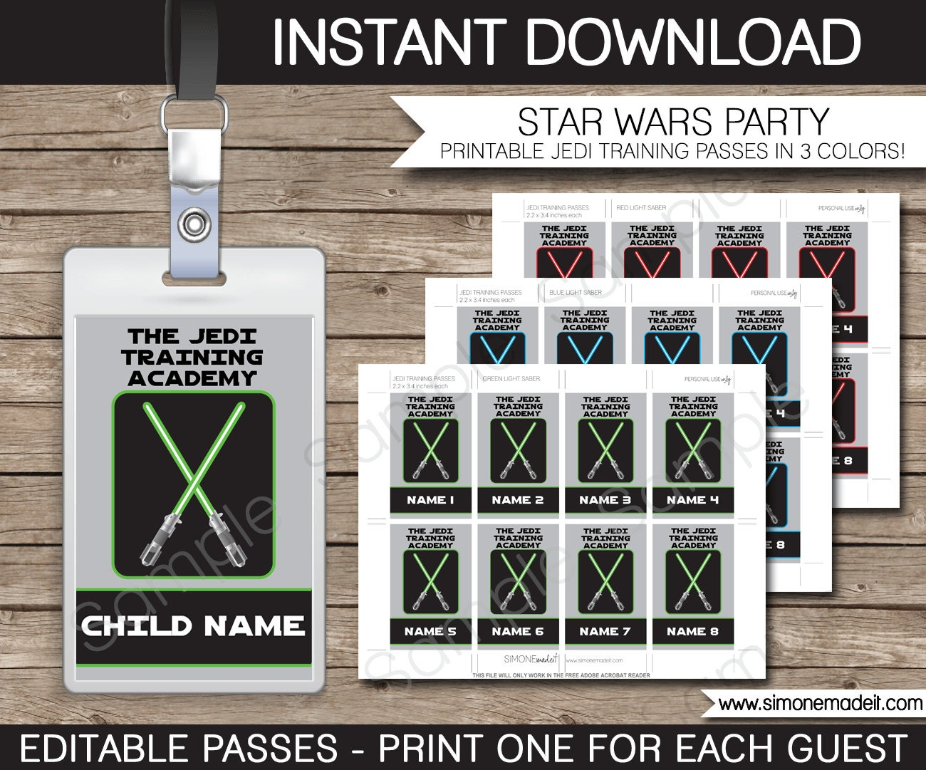 star wars jedi certificate template free - star wars party jedi training passes printable insert