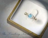 Blue Jade Ring, Frozen Ice Blue Ring, Boho Ring, Matching Rings, Mother Daughter Rings, BFF Rings, Vishuddha, 5th chakra, Custom Sized