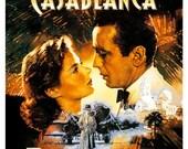 "Humphrey Bogart - Casablanca - Ingrid Bergman - Home Theater Decor - Classic Movie Poster Print  13""x19"" -  Media Room decor"