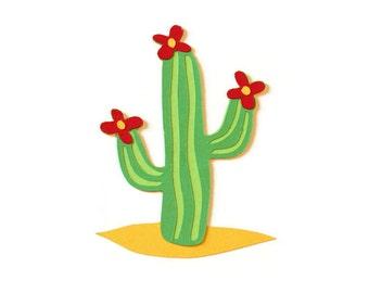 Cactus die cuts - 4 dies (3 in.) - you choose the colors (C86)