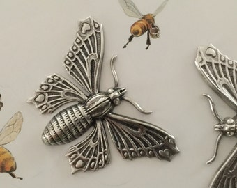 Silver Moth (1 pc)