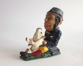 Cast Iron Mechanical Bank by Book Of Knowledge - Vintage reproduction of 19th Century Original - Paddy and the Pig
