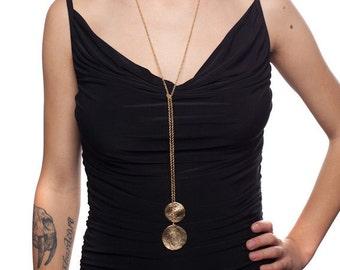 Golden Tie Necklace, Versatile Necklace, Gold Y Necklace, gold necklace, gold tie necklace, gold lariat necklace, tie lariat necklace