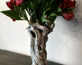 Tree Vase, White Finish