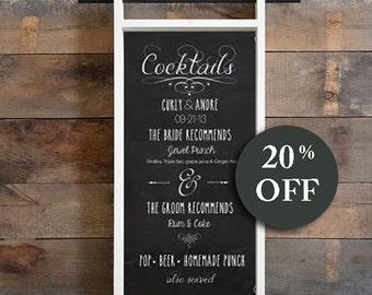 Housewarming Gift - Kitchen Chalkboard Organizer - Mail Organizer Key Holder - Chalkboard Recipe