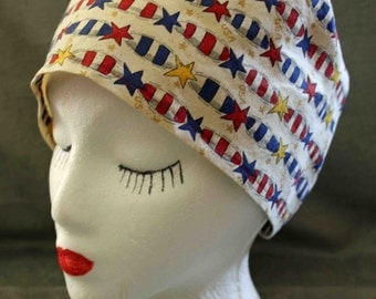 SALE.... Firecrackers Surgical Cap (biker/chemo/surgical)