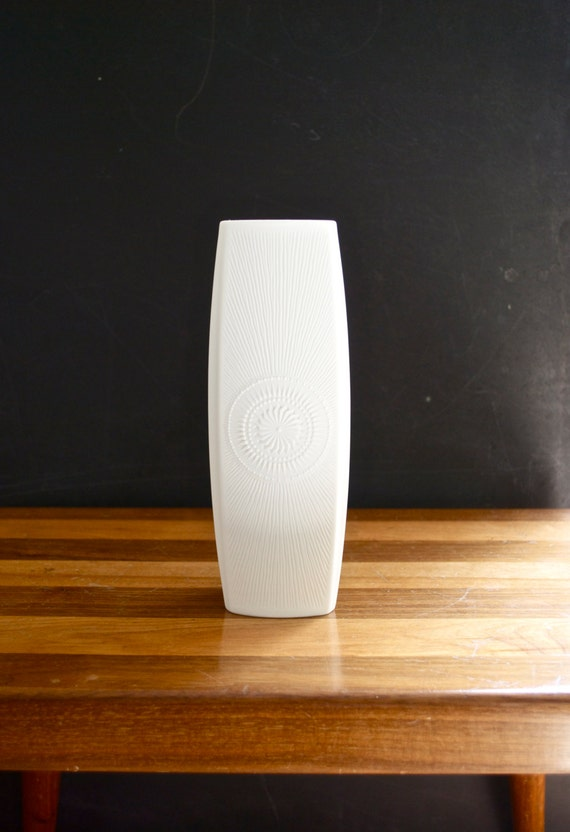Mid Century Matte White Porcelain Vase // AK Kaiser West Germany // Bohemian Home Decor