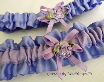 Lavender and Lilac Wedding Garter Set