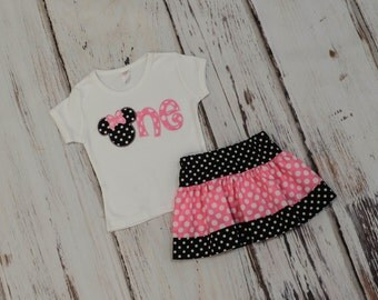 Minnie Mouse 1st birthday outfit - Minnie Mouse 2nd birthday outfit - Minnie Birthday outfit - Girls birthday outfit - Disney trip outfit
