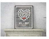 Personalized couples print, couples anniversary gift, wall decor, hearts, valentines day gift, rustic barnwood, rustic wedding