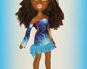 Big Bratz 24 Inch Doll Clothes, Multicolor Holiday Fireworks Dress and Sleeves, Sasha Celebrates Fashion