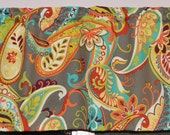 Valance . Whimsy Paisley Mardi Gras  by Covington . Kitchen Valance . Handmade by Pretty Little Valances