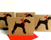 Airedale Terrier Card Set - Welsh Christmas Gifts for Irish Wire Hair Fox - Wirehaired Dog Holiday Pet Birthday Pack - Thank You Cards Bulk