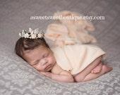 Newborn Crown Photo Prop Baby Crown Headband Newborn Princess Crown Photo Prop Baby Tiara Headband Newborn Rhinestone Crown Headband