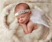Newborn Angel Wings Sweet Celestial Radiance Wings And Headband Set Newborn Photo Prop