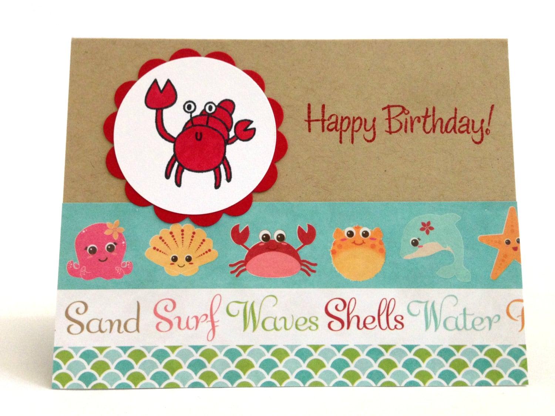 beach birthday card  etsy, Birthday card