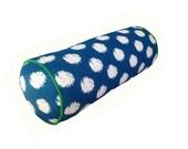 Navy Blue Ikat Spot Bolster cushion