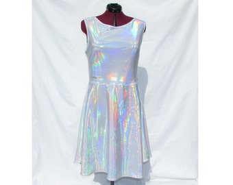 Holographic Skater Dress - Discontinued