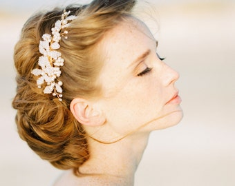 "Hair accessory, Bridal headpiece, Beaded comb, Wedding hair accessory,Style""Vicky"""