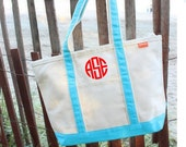 Canvas Tote - SMALL Monogrammed Canvas Tote Bag - Personalized Canvas Tote Bag - Personalized Canvas Totes - Monogrammed Tote - Bridal Gifts