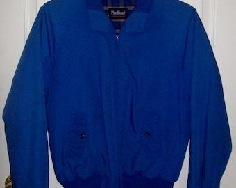 Vintage Men's Blue Zip Front Coat Jacket by Par Four Medium Only 7 USD