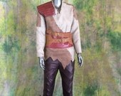 RESERVED ORDER--- Cole Dragon Age Inquisition Cosplay --- Including Leather Shirt, Pants, Belt, Hat, Shoes and Vest