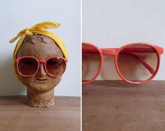 15% SALE (Code In Shop) - Vintage 80's Sunglasses Peach Smoothie