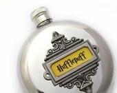 Harry Potter HUFFLEPUFF Flask Perfect Hogwarts Fan Gift Round 5 oz