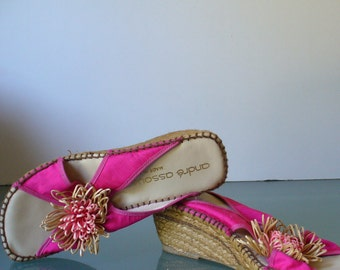 Andre Assous Made in Spain Espadrille Slides Size 7