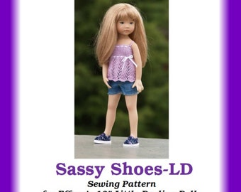 "Sassy Shoes-LD  Sewing pattern for Dianna Effner's 13"" Little Darling dolls"