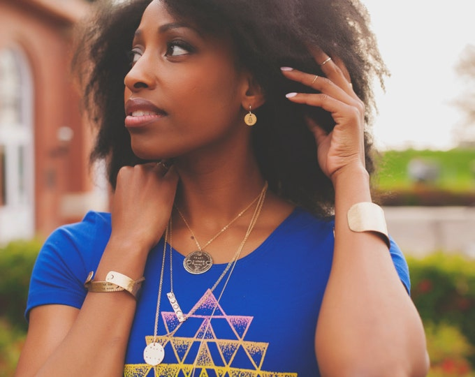 SRI YANTRA Dotwork Fitted Crop Tee