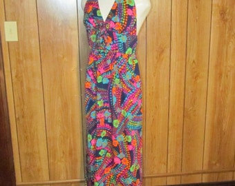 Floral HAWAIIAN RETRO MAXI Dress