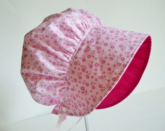 Baby Bonnet - Baby Sun Hat - Baby Gift - Easter Bonnet - Baby Sun Bonnet - Toddler Cotton Bonnet - Made To Order Size Newborn To 2yrs