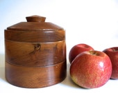 Wooden Storage Canister with Lid