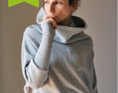 Organic Cotton Grey Japanese Sleeves Women Winter sweater /  Gift for her / Fal fashion / Eco-friendly