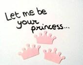 Confetti - 200 CARDBOARD crowns - Pink - Crown - Flavors - Spring - Summer - Wedding - Baby shower - Love
