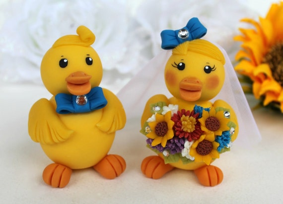 rubber duck wedding cake toppers duck wedding cake topper rubber ducky and groom 19439