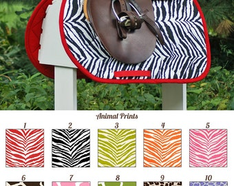 MADE TO ORDER Animal Print Saddle Pad Cheetah, Leopard, Zebra, Giraffe