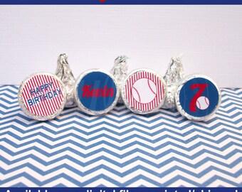 Baseball Chocolate Kiss Stickers - Baseball Stickers - Sports Stickers - Sports Candy Kiss Sticker - DIGITAL and PRINTED