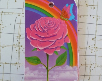 Vintage Lisa Frank Rainbow Rose Butterfly Notepad Paper Stationary 1990