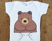 Cute Baby Boy Clothes - Baby Girl Clothes - Bear Onesie - Bear Baby Shirt