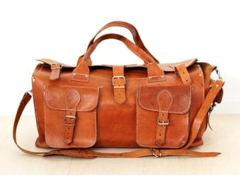 Leather duffel bag weekender Leather travel bag Leather luggage