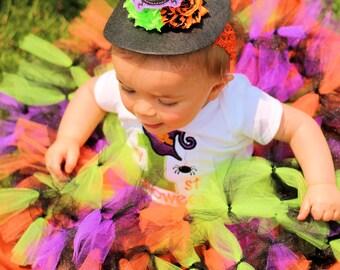 Baby First Halloween- Girl First Halloween- First Halloween Shirt- Girl First Halloween tutu- Witch tutu- Baby Witch Costume- Baby Witch