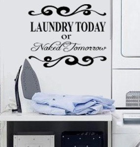 Items similar to Fun laundry room vinyl decal Laundry