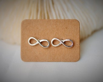 Silver Plated - INFINITY Symbol ~ 13mm - Girls / Casual / Cutie